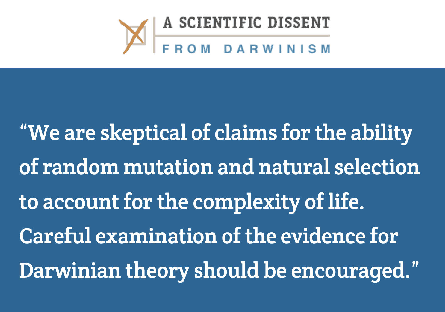 1230 Scientists Dissent from Following Darwin!  See the List!